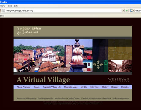 Homepage of A Virtual Village