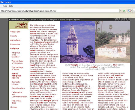 Topic Page on public religious spaces